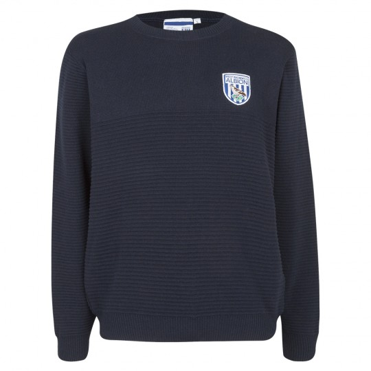 NAVY RIPPLE CREW NECK JUMPER