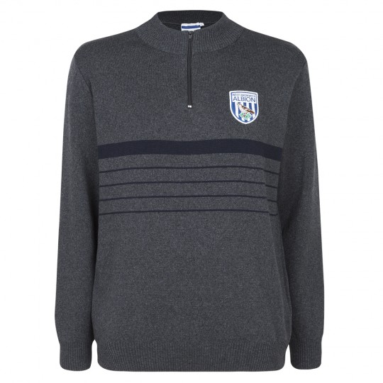 STRIPE 1/4 ZIP JUMPER