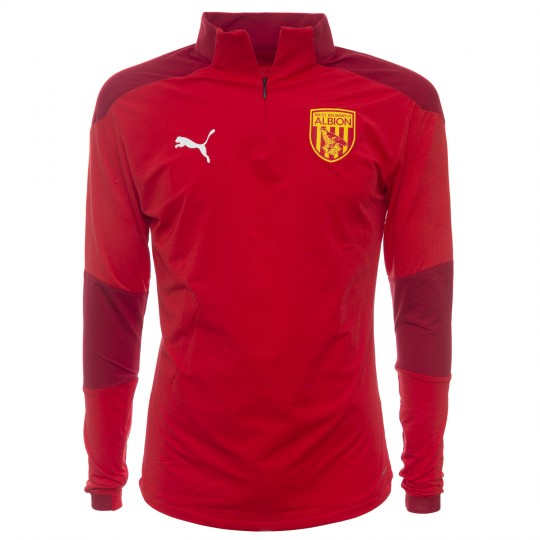 20/21 PUMA ADULT TRAINING QUARTER ZIP RED