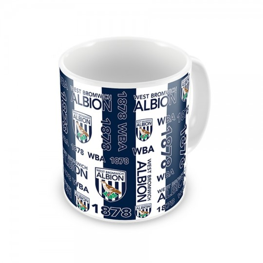 MULTI TEXT AND LOGO STRIPE MUG