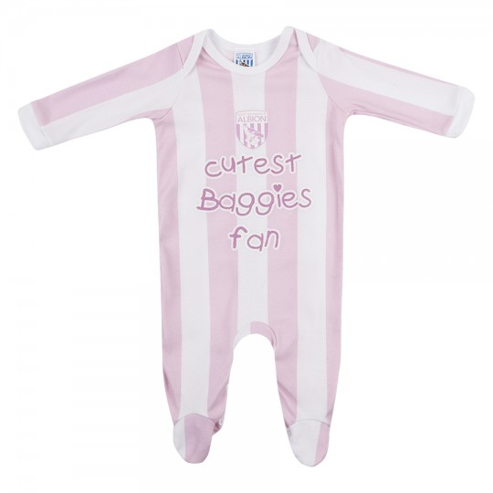 PINK STRIPED SLEEPSUIT