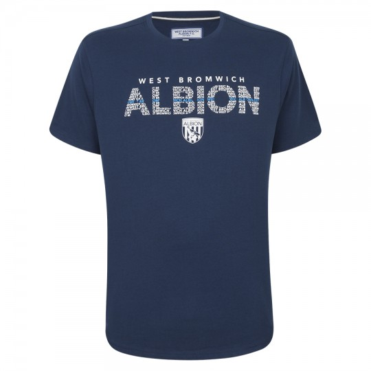 WEST BROMWICH ALBION CREST T SHIRT CHILDS