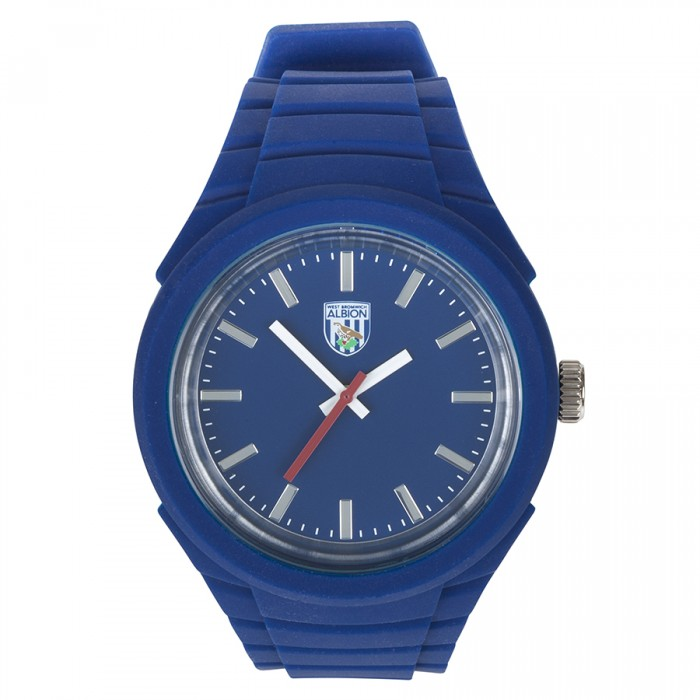 NAVY RUBBER STRAP WATCH