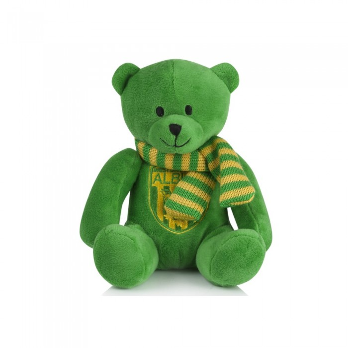 BEANIE BEAR GREEN/YELLOW SCARF