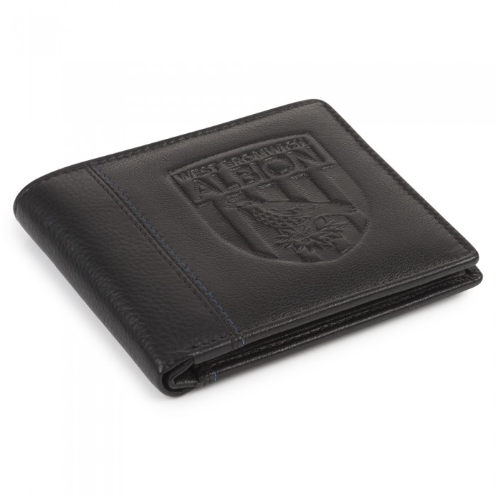 BLACK WITH NAVY STITCH WALLET