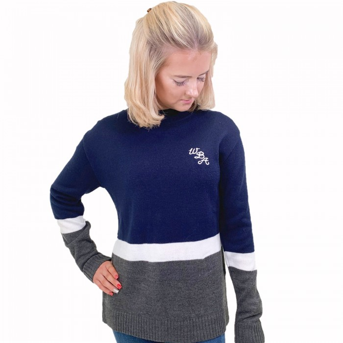 LADIES CONTRAST CREW JUMPER