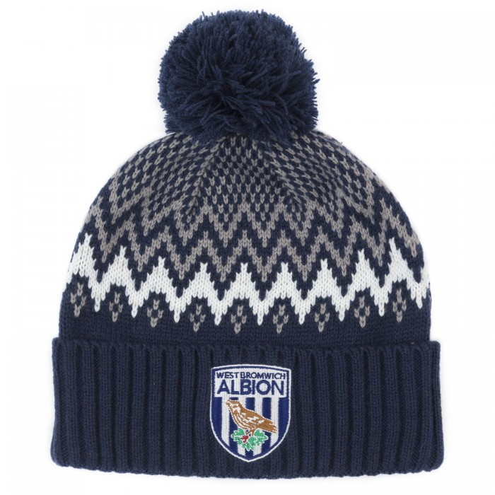 WBA Fairisle Bottle Beanie- Navy