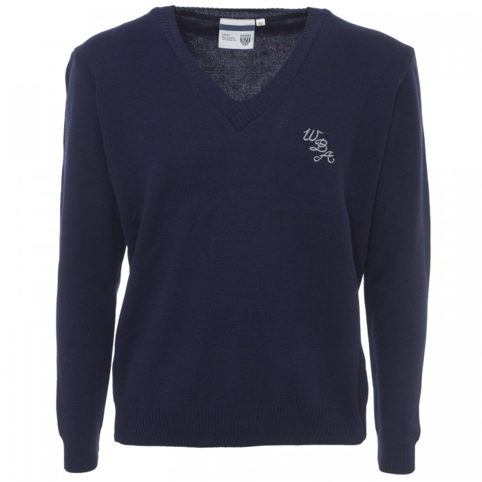 WBA Supersoft V Neck Jumper- Navy