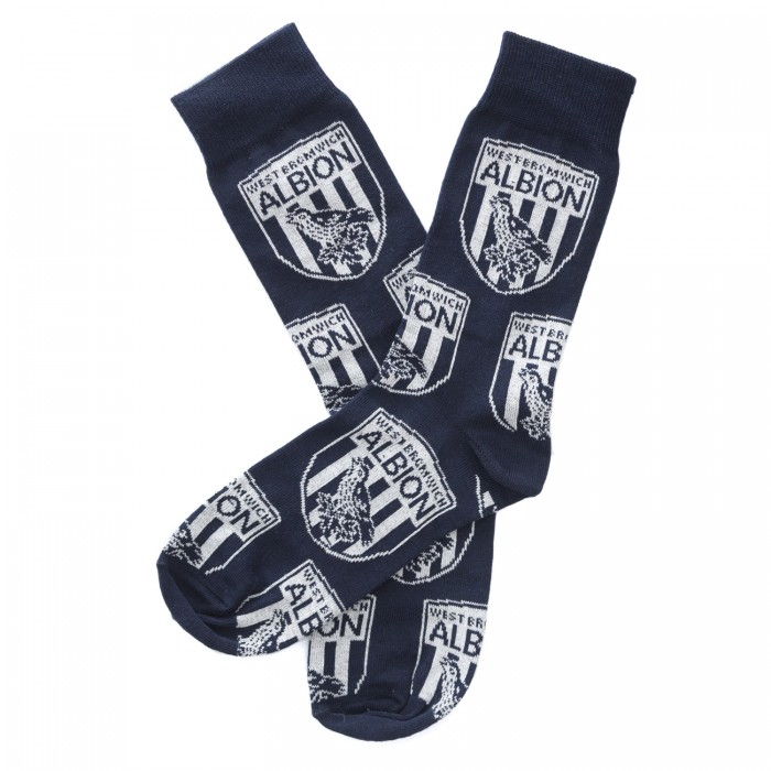 Two Tone Crest Dress Socks