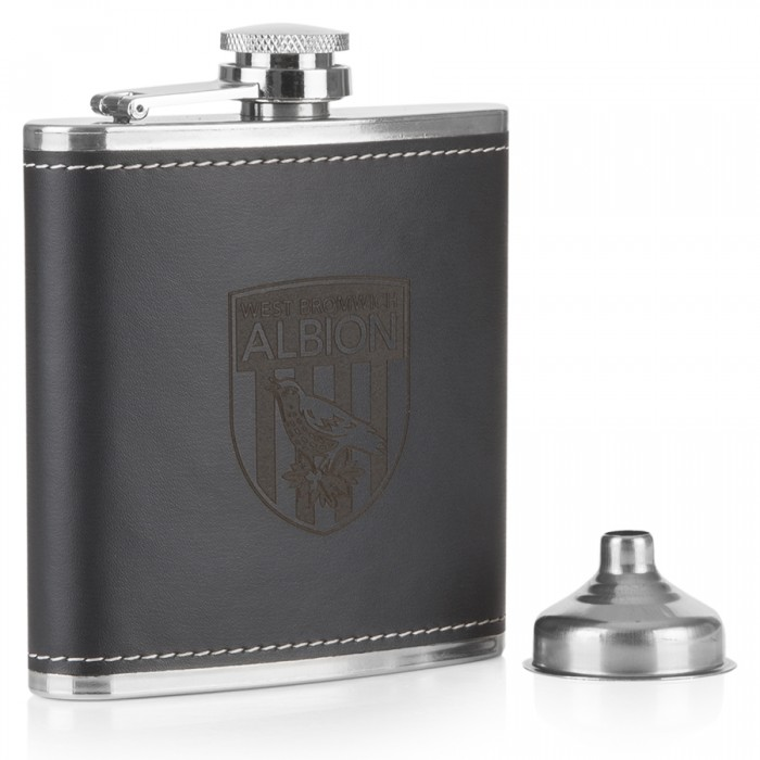 HIP FLASK LEATHER BOUND