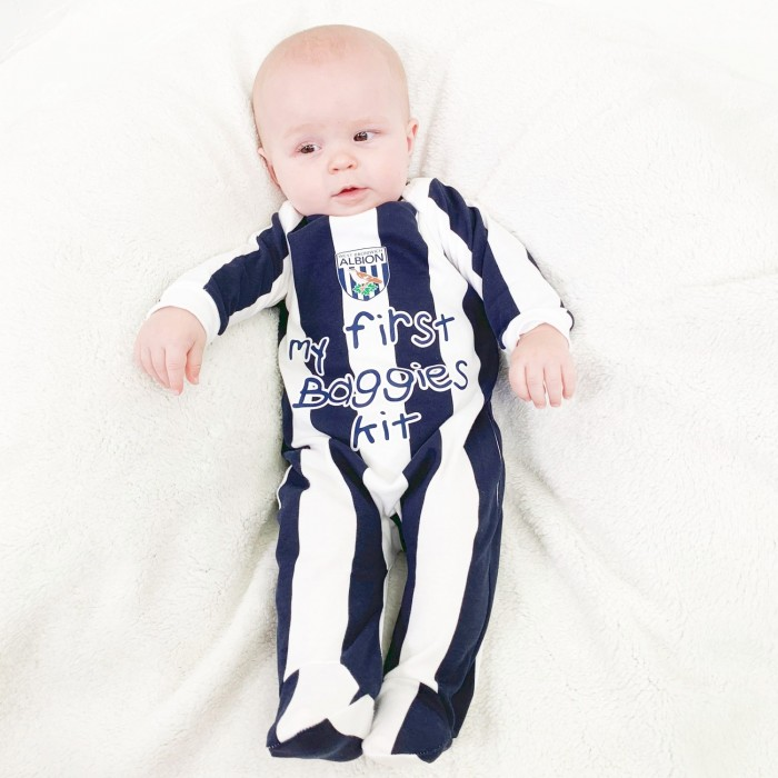CREST STRIPED SLEEPSUIT