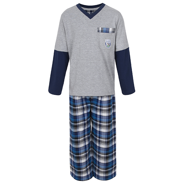 L/S T SHIRT AND CHECK TROUSER PJ SET