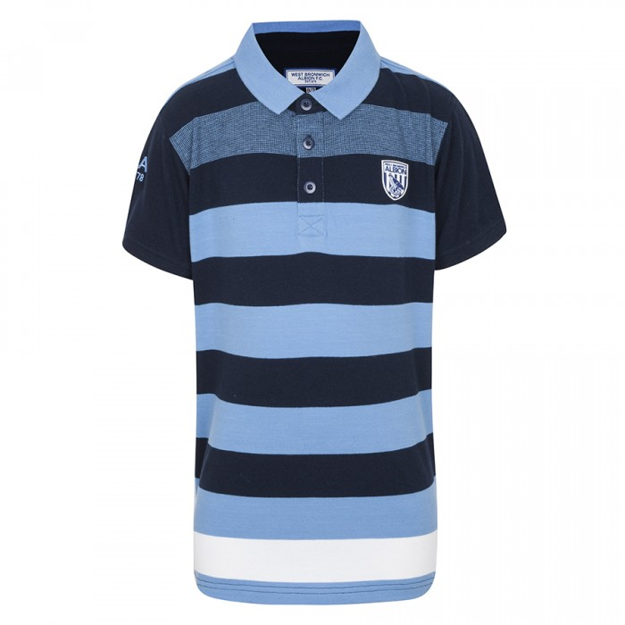 CHILDS ENGINEERED STRIPED POLO SHIRT